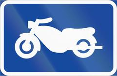Road sign used in Sweden - Symbol plate for specified vehicle or road user ca Stock Illustration