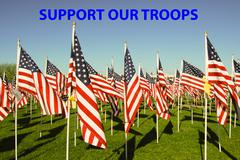 Support Our Troops - stock photo
