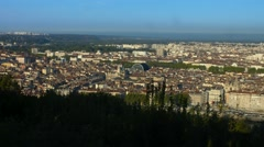Panoramic view of Lyon city (France) Stock Footage