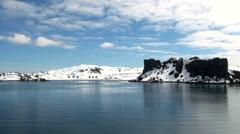 Coastline of Antarctica - Global Warming - Ice Formations - stock footage