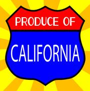 Produce Of California Shield - stock illustration