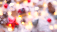 Christmas and New year blurred background with presents Stock Footage