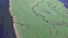River aerial at Seven Sisters Stock Footage