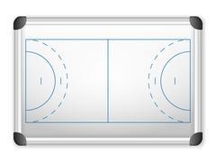 Stock Illustration of whiteboard handball