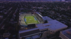 Tulane University Stadium Aerial Stock Footage