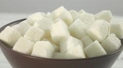 Lump sugar Stock Footage