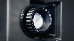 Super 8 projector lens side Stock Footage