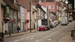 Medieval City street in England, Europe Stock Footage