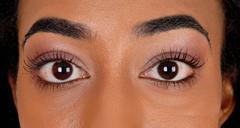 Big eye's of an African American teenager. - stock photo