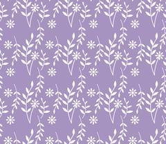 spring lavender seamless pattern - stock illustration