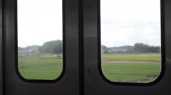 View from Train on Narita Line in Japan Stock Footage