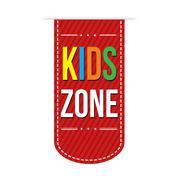 Kids zone banner design Stock Illustration