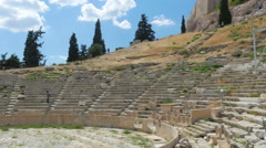 Stock Video Footage of Amphitheatre in Acropolis, Athens, Greece, 4k