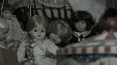 Centrifugal and dolls, old Film effect Stock Footage