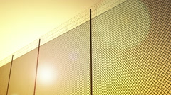Border Fence Sunset 3D Animation 1 Stock Footage