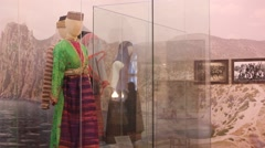 National costumes in the museum Stock Footage