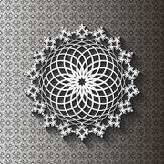 Paper lace doily Stock Illustration