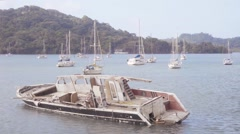 Sailboat wrecked Stock Footage