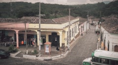 High perspective of old town, Suchitoto, El Salvador.. Stock Footage