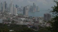 Aerial View of panama city. Stock Footage