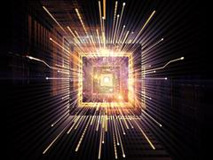 Acceleration of CPU - stock illustration