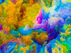 Visualization of Colors Stock Illustration