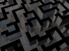 The Maze Low Poly Game Model - 3D model