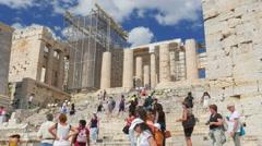 ATHENS - GREECE, JUNE 2015: Acropolis view, 4k Stock Footage