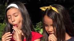 Childhood Friends with Candy Stock Footage