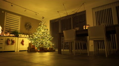 Christmas evening at home Stock Footage