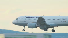 Stock Video Footage of Airbus 320 touchdown