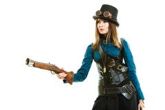Stock Photo of Funky girl in steampunk style.