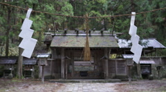 Nishina Shinmei Shinto Shrine in Japan Stock Footage