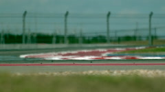Heat Waves Over a Racetrack in Slow Motion Stock Footage