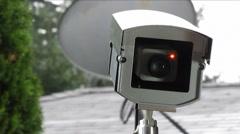 Outdoor surveillance camera - stock footage
