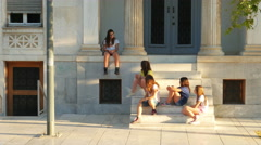 ATHENS - GREECE: daily life on greek street Stock Footage