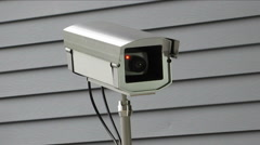 Surveillance camera low angle Stock Footage