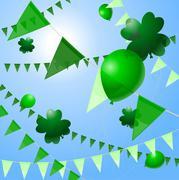 St. Patrick's Day decorations - stock illustration