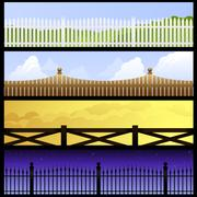 Fence banners Stock Illustration