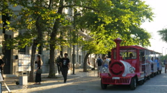 ATHENS - GREECE, JUNE 2015: sightseeing train view Stock Footage