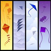 kite banners - stock illustration