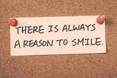 there is always a reason to smile - stock photo