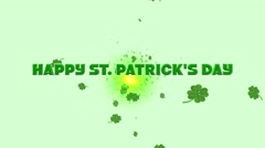 Happy St Patricks Day - stock footage