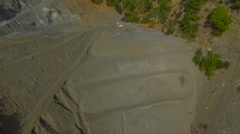 Aerial view of a Mine Pit. Stock Footage