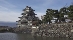 Matsumoto Castle in Nagano Prefecture, Japan Stock Footage