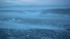 Strong storm in southern Iceland Stock Footage