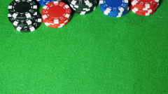Poker player with pocket pair of kings shows his cards. Stock Footage