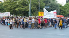 ATHENS - GREECE, JUNE 2015: protests view Stock Footage