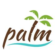 Water with palm logo for holiday business Stock Illustration