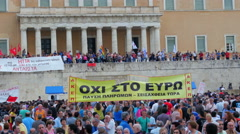 ATHENS - GREECE, JUNE 2015: protests view - stock footage